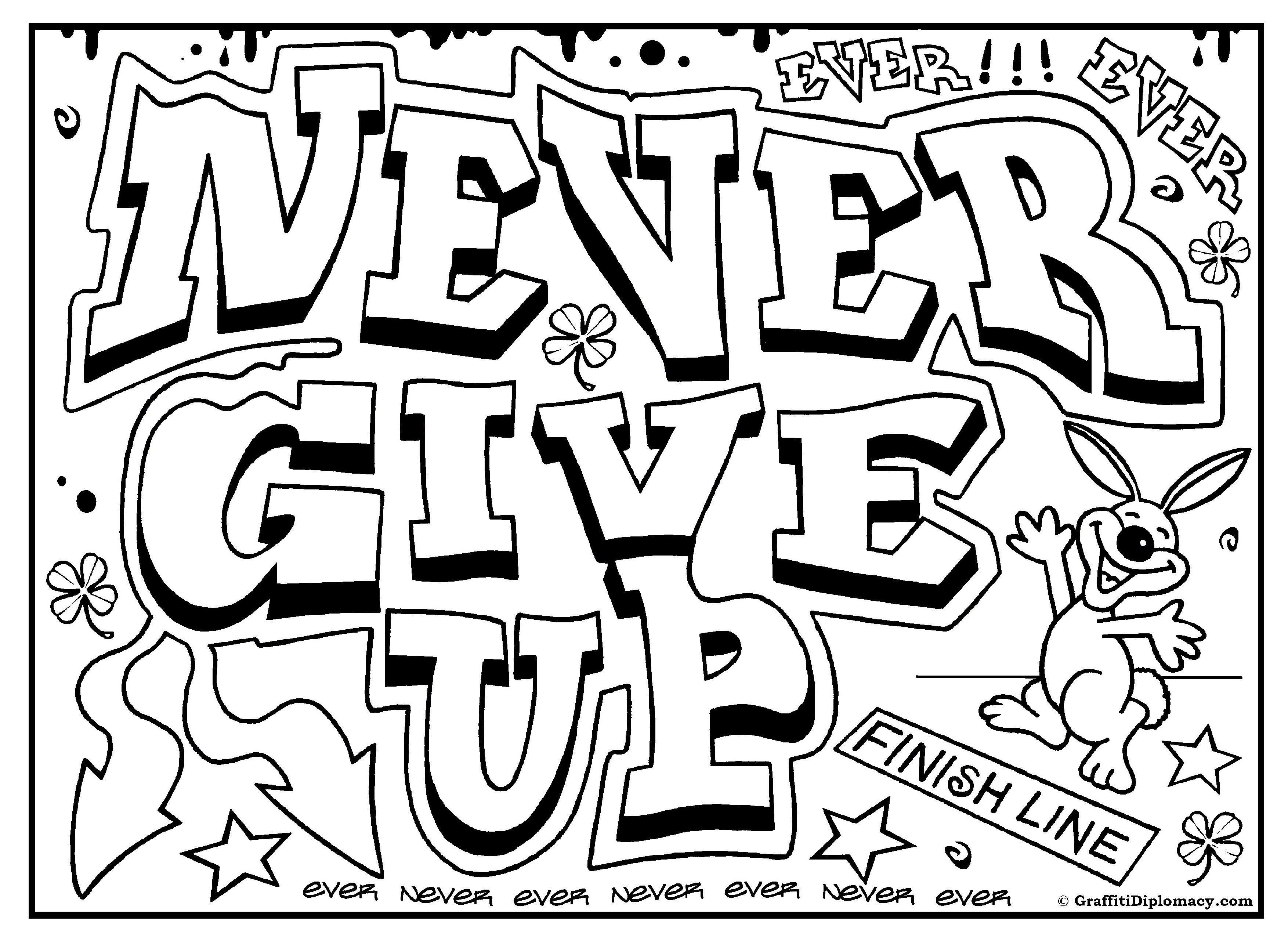 Graffiti Coloring Page, Free Printables For Kids To Color, Free - Free Printable Coloring Pages On Respect