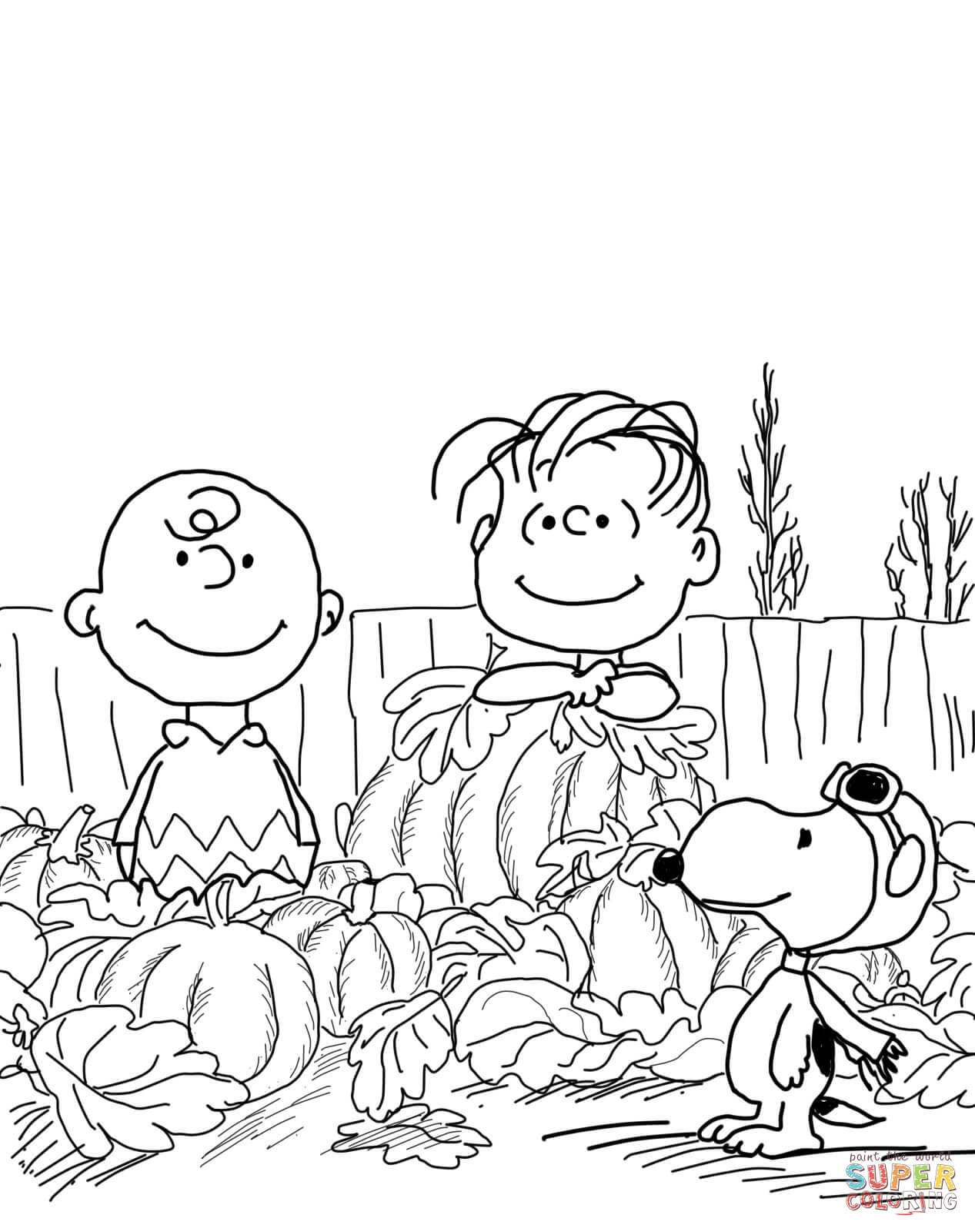 Great Pumpkin Charlie Brown Coloring Page   Free Printable Coloring - Free Printable Charlie Brown Halloween Coloring Pages