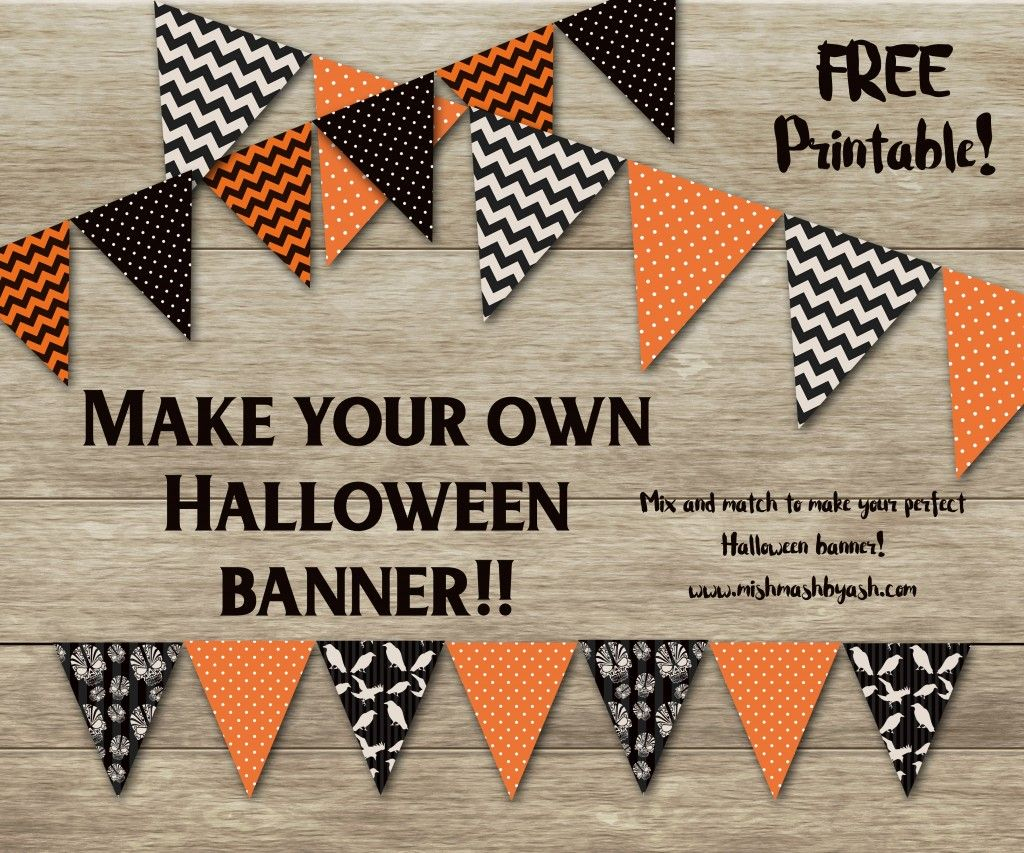 Halloween Banner, Free Halloween Printable, Printable Halloween - Free Printable Halloween Party Decorations