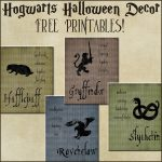 Halloween Decor: Harry Potter House Posters | Harry Potter Party   Free Printable Harry Potter Posters
