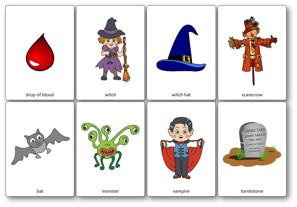Halloween Flashcards - Free Printable Flashcards To Download - Speak - Free Printable Flash Cards