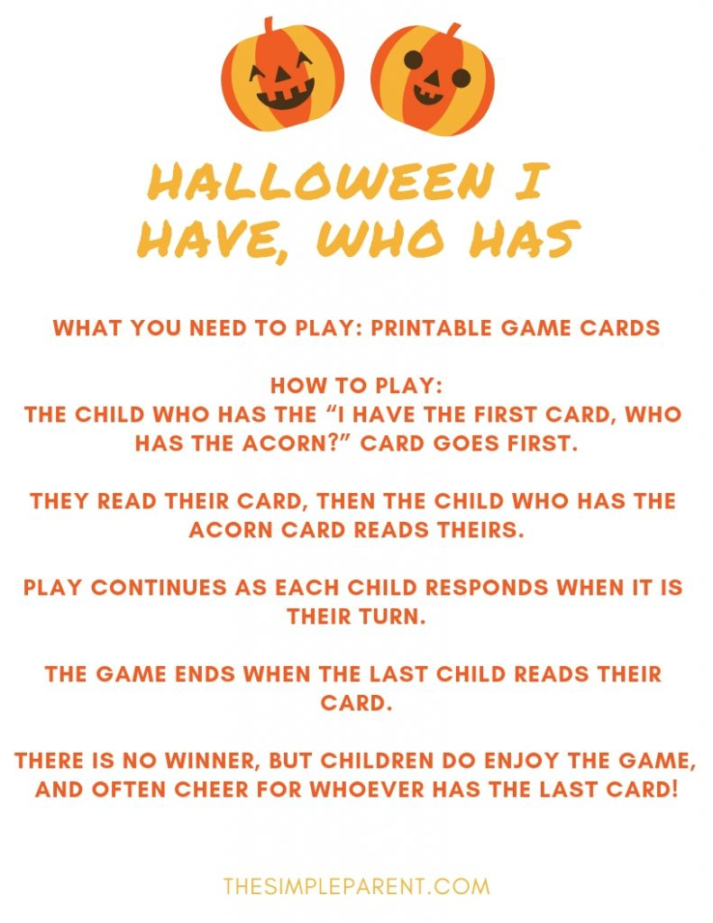 Halloween Games For Kids For Parties And Playdates • The Simple Parent - Free Printable Halloween Games For Kids