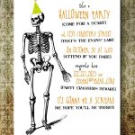 Halloween Party Invitations Free Printable … | Creepy In 2019…   Halloween Invitations Free Printable Black And White