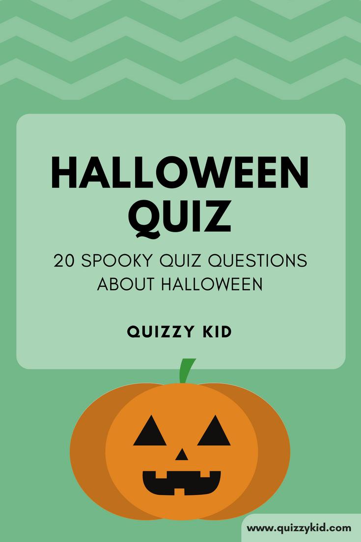 Halloween Quiz - Quizzy Kid - Free Printable Halloween Quiz