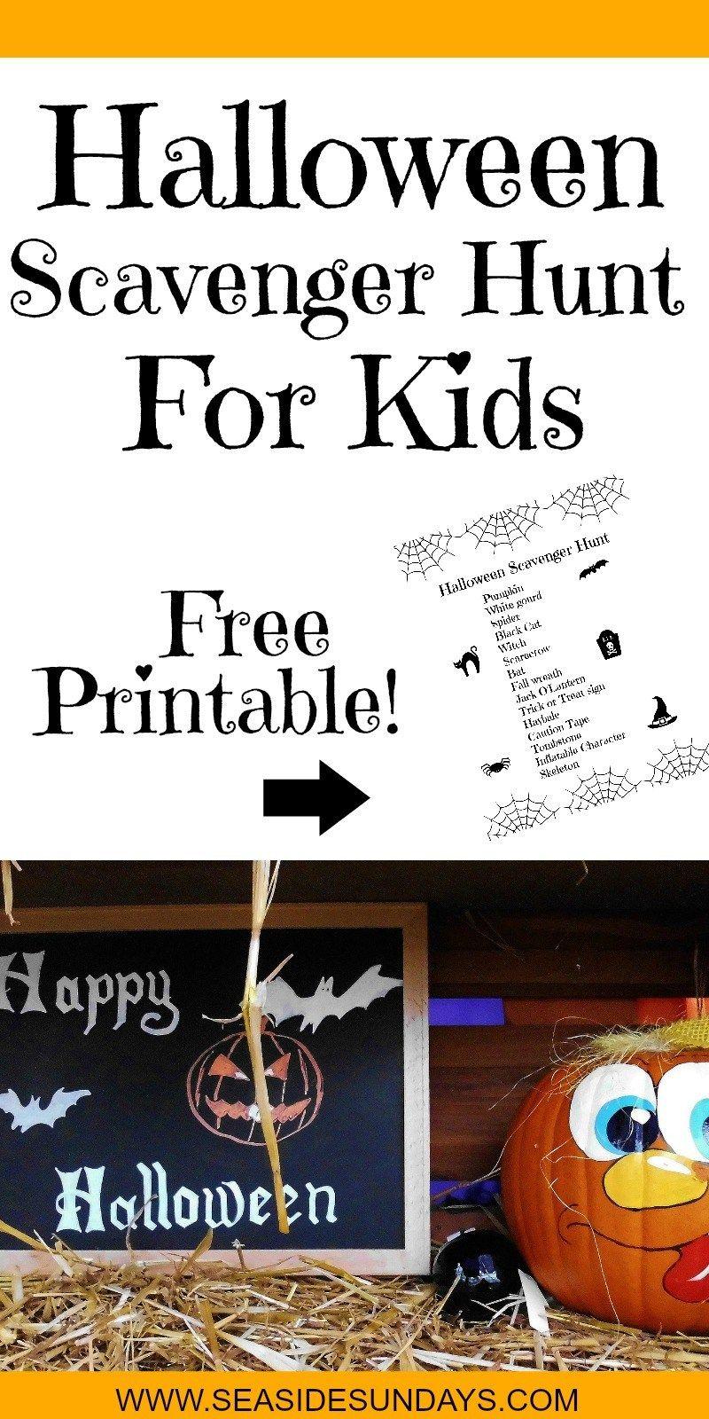 Halloween Scavenger Hunt For Kids (Free Printable)   Party - Free Printable Halloween Scavenger Hunt