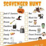 Halloween Scavenger Hunt   Free Printable • Fyitina   Free Printable Halloween Scavenger Hunt