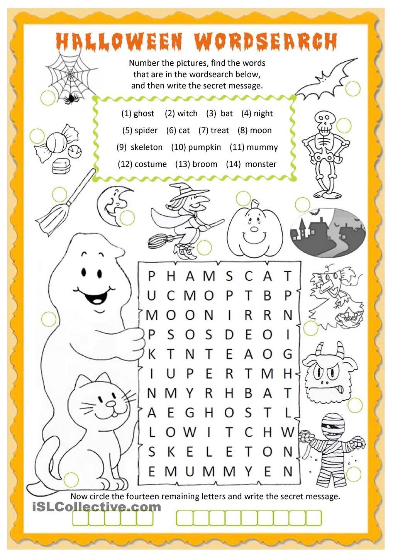 Halloween Wordsearch Worksheet - Free Esl Printable Worksheets Made - Free Printable Bat Writing Paper