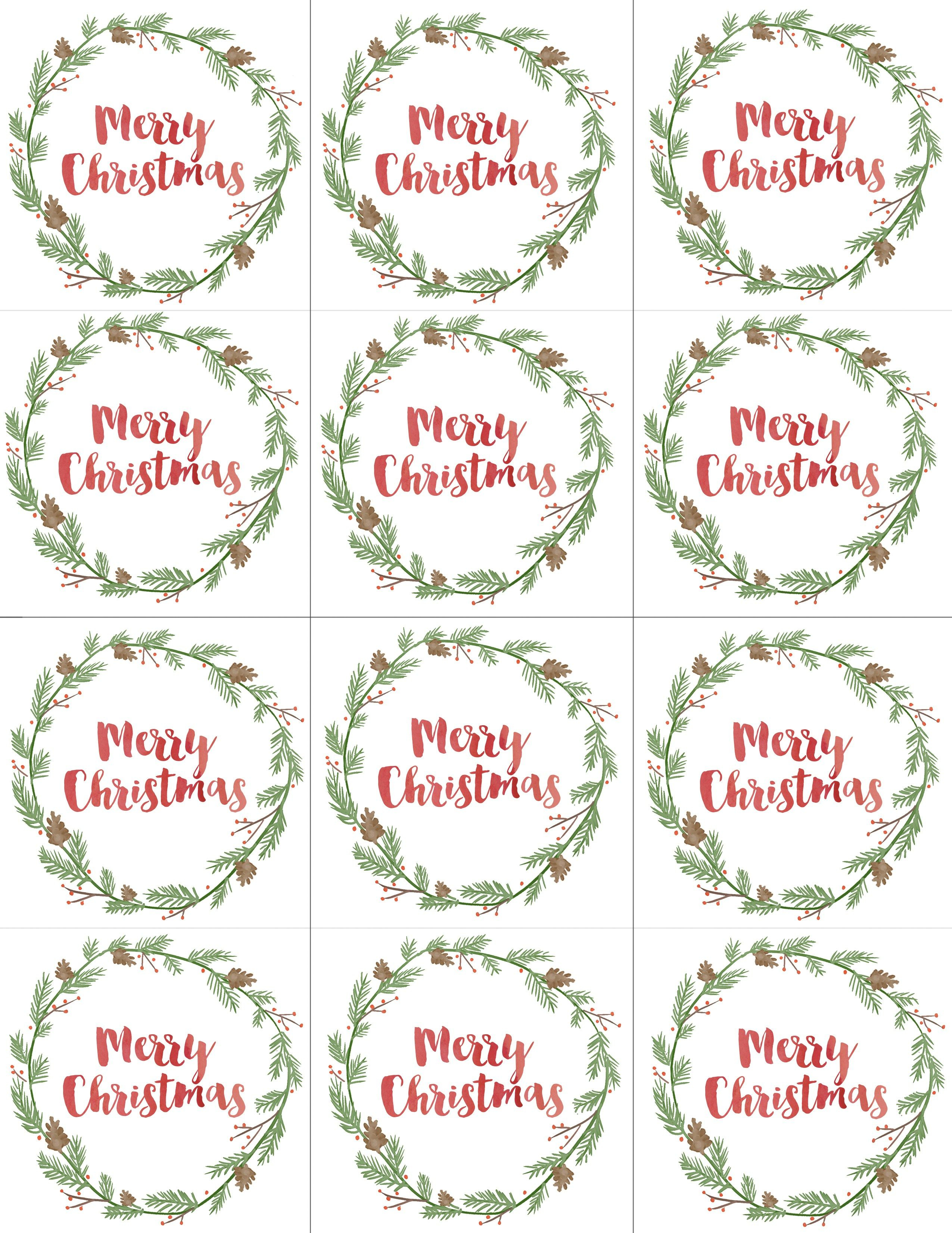Hand Painted Gift Tags Free Printable | Christmas | Christmas Gift - Free Printable Christmas Labels