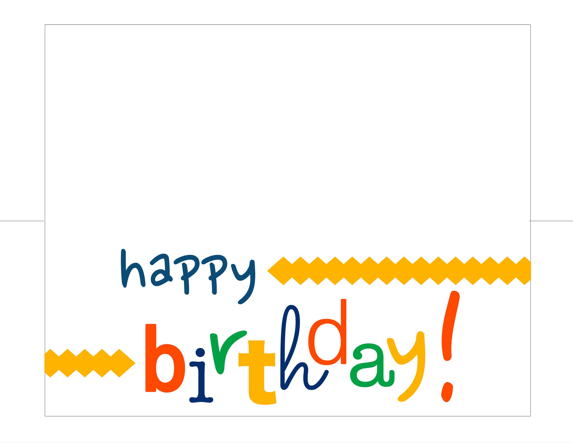 Happy Birthday Card Free Printable - - Free Printable Happy Birthday Cards