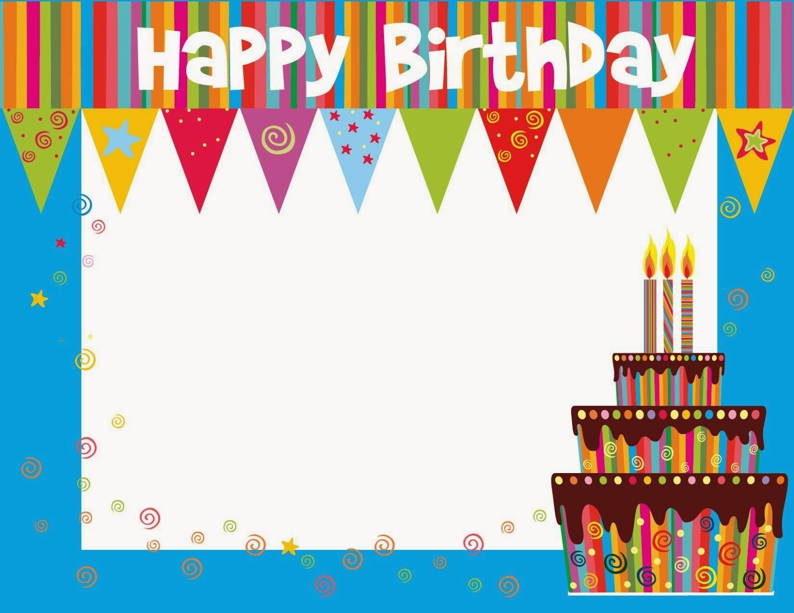 Happy Birthday Cards Online Free Printable – Happy Holidays! Inside - Free Printable Happy Birthday Cards Online