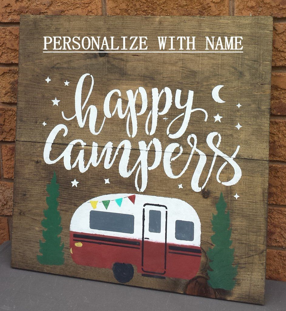 Happy Campers Sign   Craft Fair   Camping Signs, Camper Signs - Free Printable Camping Signs