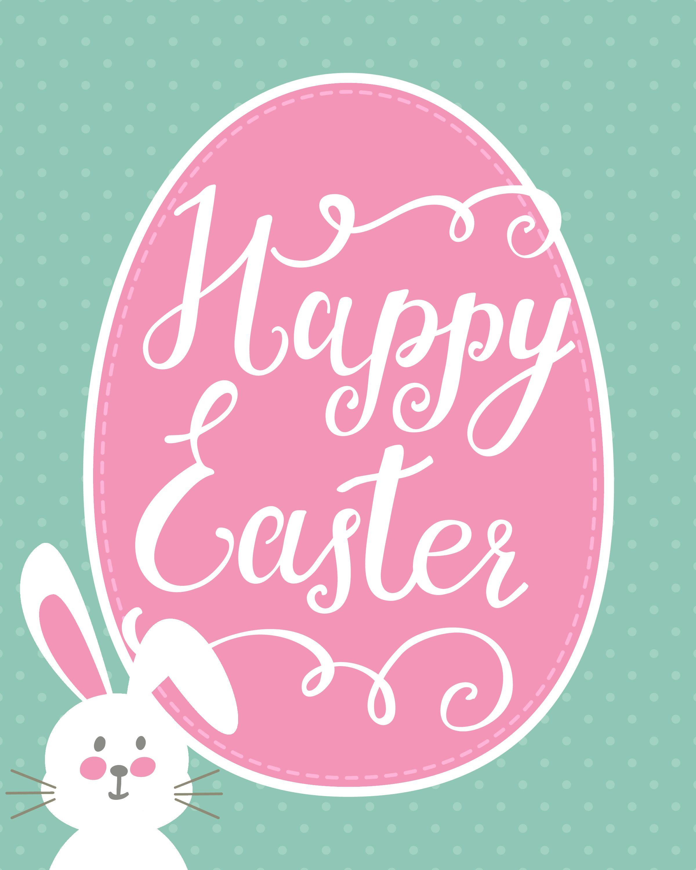 Happy Easter Bunny Printable + Easter Printable Blog Hop | Holidays - Printable Easter Greeting Cards Free
