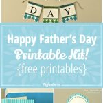Happy Father's Day Printable Decor Kit! {Free Printables} – Tip Junkie   Happy Father Day Banner Printable Free