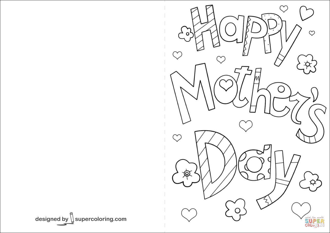 Happy Mothers Day Coloring Cards Printable - 9.17.hus-Noorderpad.de • - Free Printable Mothers Day Cards To Color