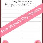 Happy Mother's Day Free Printable | Mothers Day Ideas | Pinterest   Free Printable Mother's Day Games