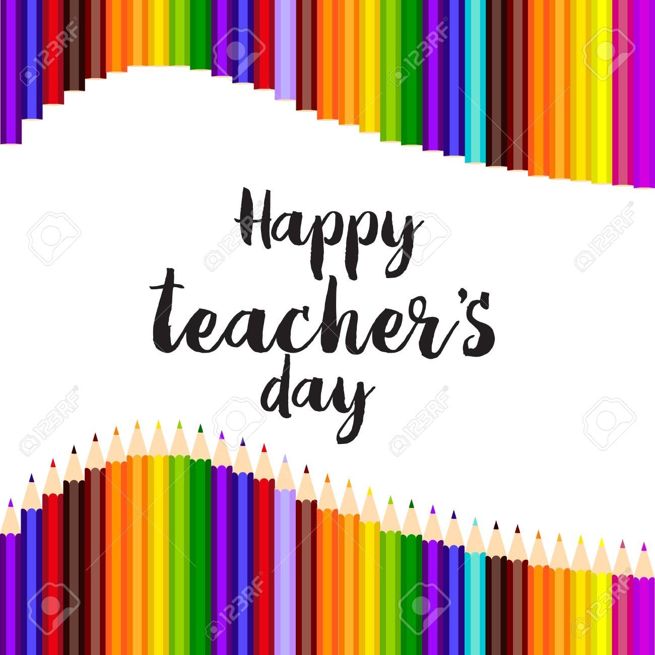 Happy Teacher's Day Greeting Card Template Design Royalty Free - Free Printable Teacher's Day Greeting Cards