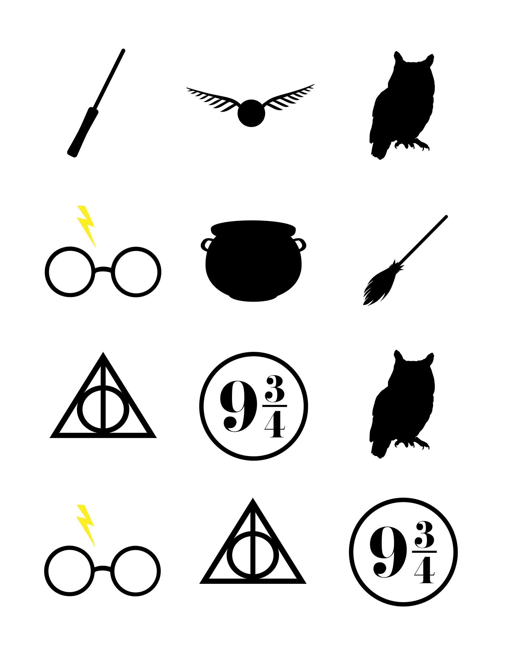 Harry Potter Baby Shower Ideas & Free Printables | Harry Potter - Free Printable Harry Potter Clip Art