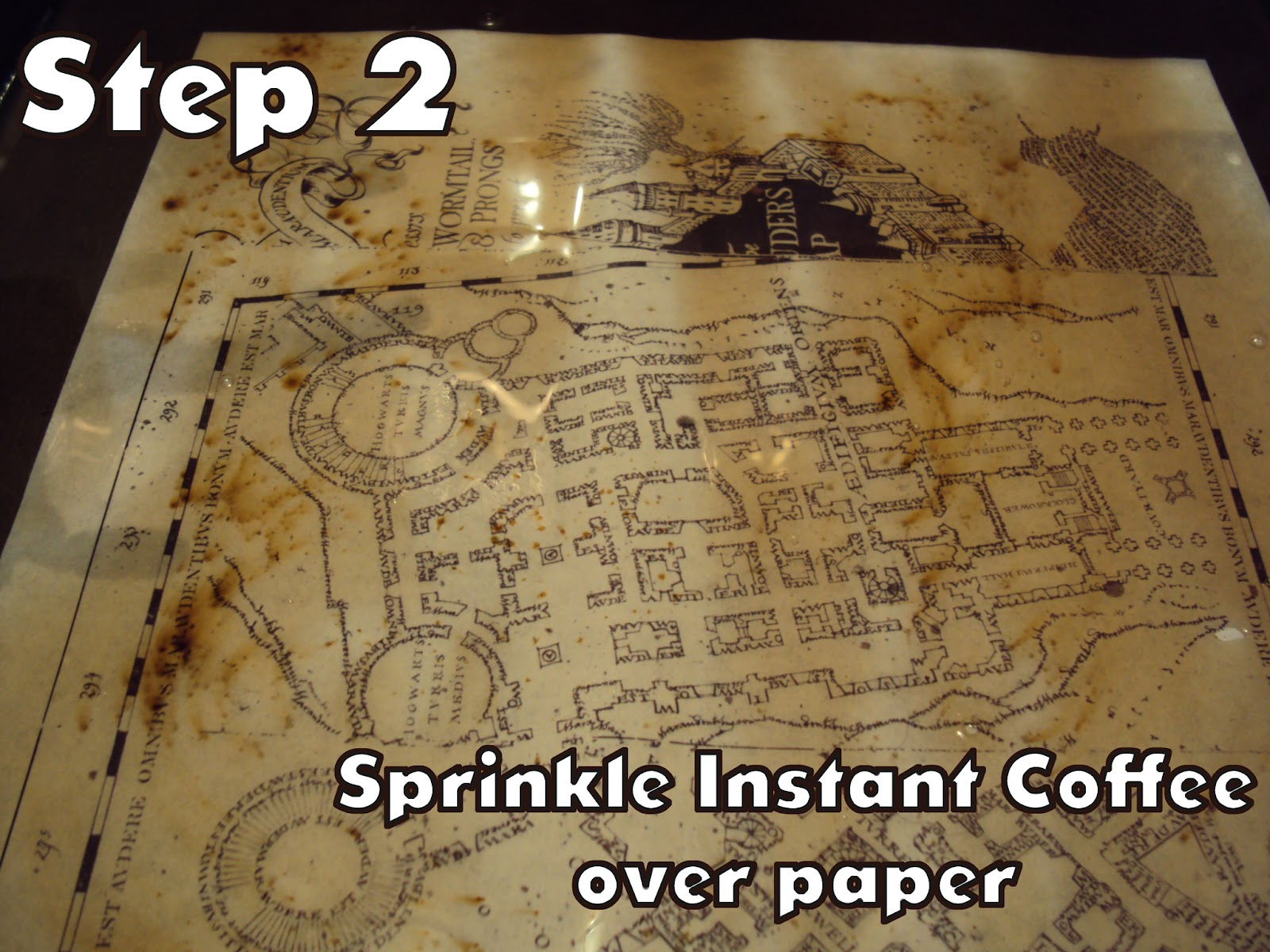 Harry Potter Paraphernalia: Marauder's Map: Inside And Outside - Free Printable Marauders Map