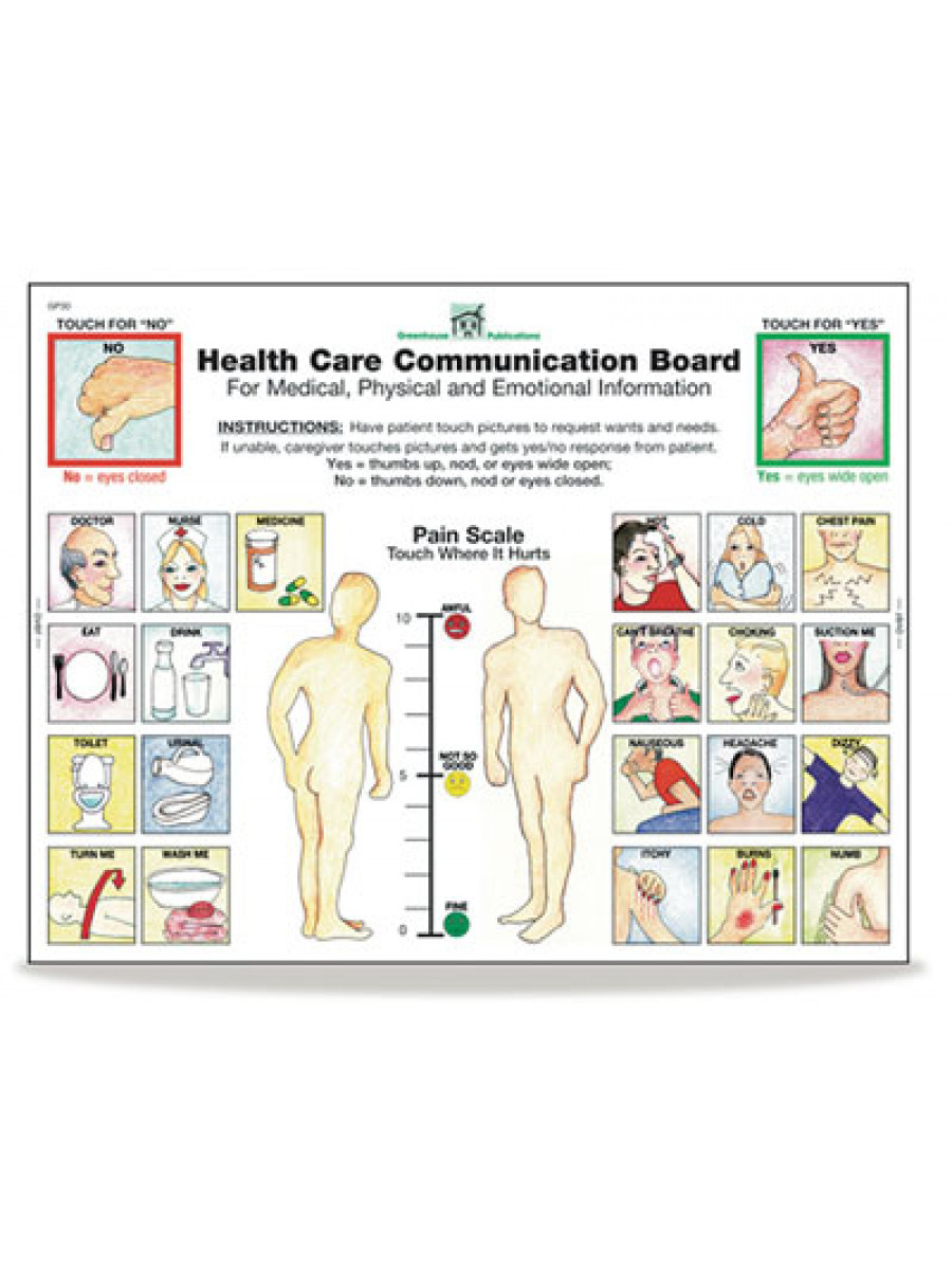 Health Care Communication Board Tablets - Free Printable Communication Boards For Adults