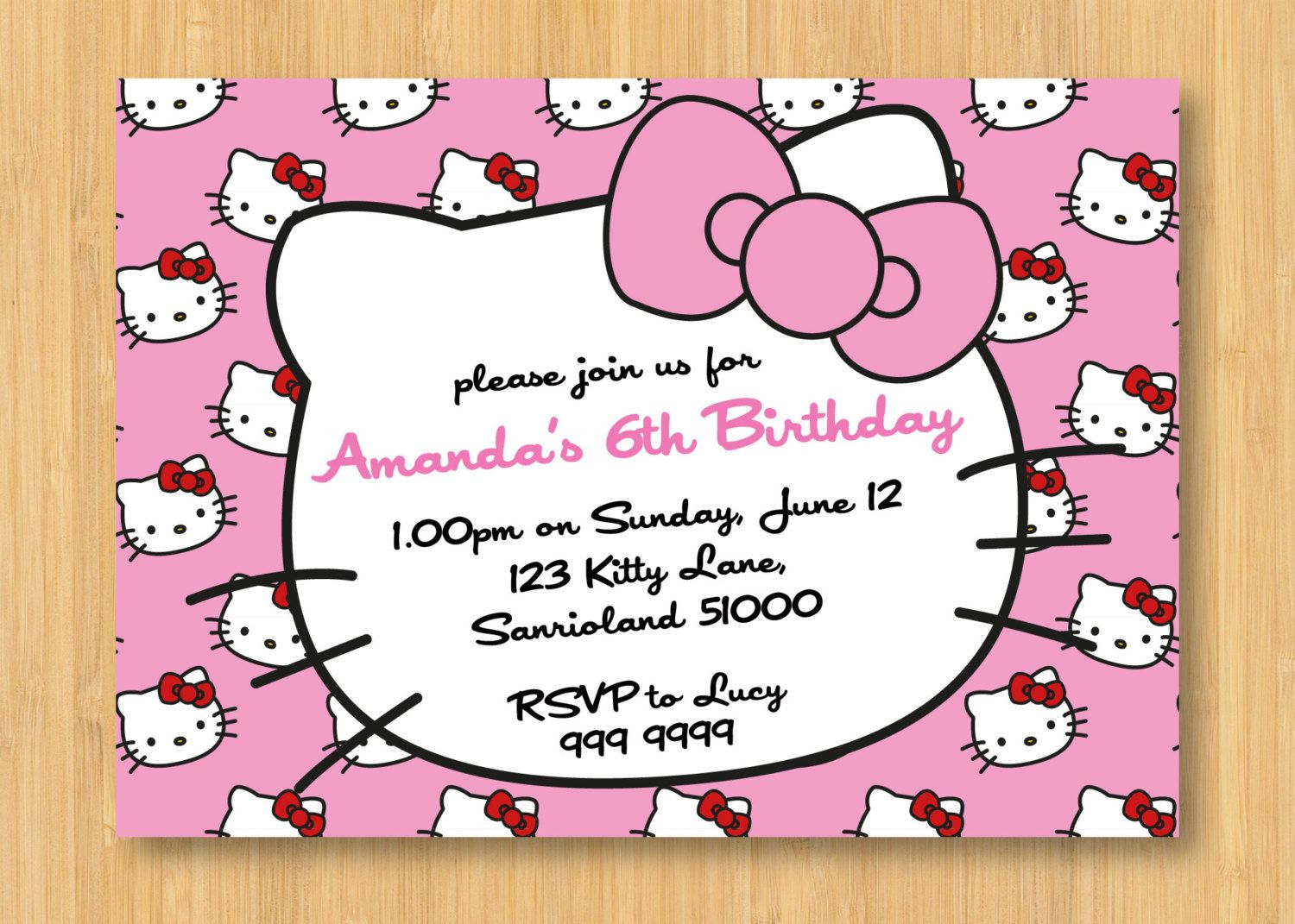 Hello Kitty Birthday Invitations Printable Free – Invitation - Hello Kitty Birthday Card Printable Free