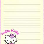 Hello Kitty | Borders,stationary,backgrounds | Pinterest | Hello   Free Printable Hello Kitty Stationery