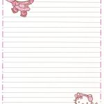 Hello Kitty | Borders,stationary,backgrounds | Pinterest | Sobres De   Free Printable Hello Kitty Stationery