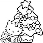 Hello Kitty Christmas Coloring Page | Free Printable Coloring Pages   Xmas Coloring Pages Free Printable
