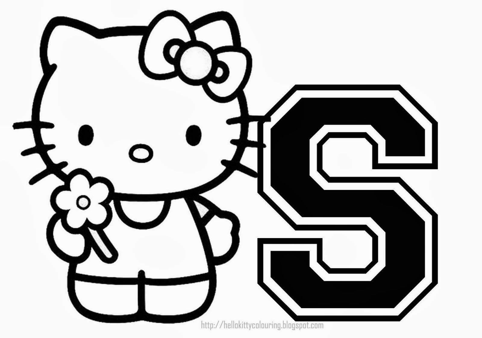 Hello Kitty Coloring Alphabet For. Hello Kitty Alphabet Coloring - Free Printable Hello Kitty Alphabet Letters
