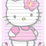 Hello Kitty Printables Hello Kitty Printable Letter Stationary Hello   Free Printable Hello Kitty Stationery