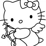 Hello Kitty Valentine's Day Cupid Coloring Page | Free Printable   Free Printable Pictures Of Cupid