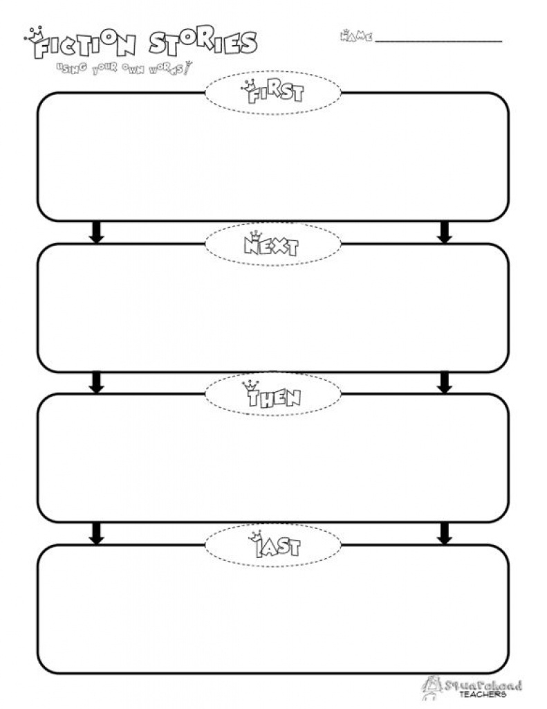 Here's A Free Graphic Organizer For Your Students To Practice For - Free Printable Sequence Of Events Graphic Organizer