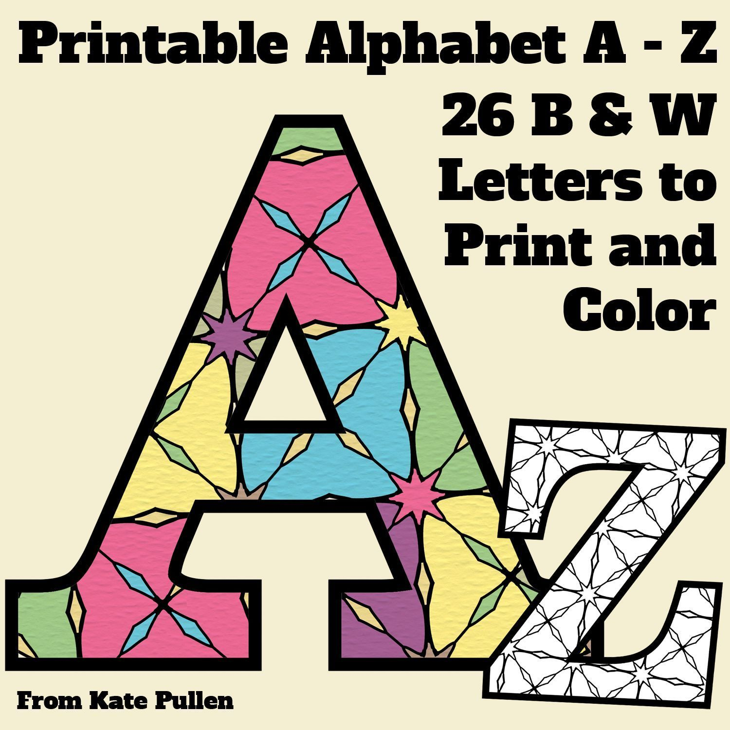 Here's A Set Of Printable Alphabet Letters To Download And Print - Free Printable Alphabet Letters To Color
