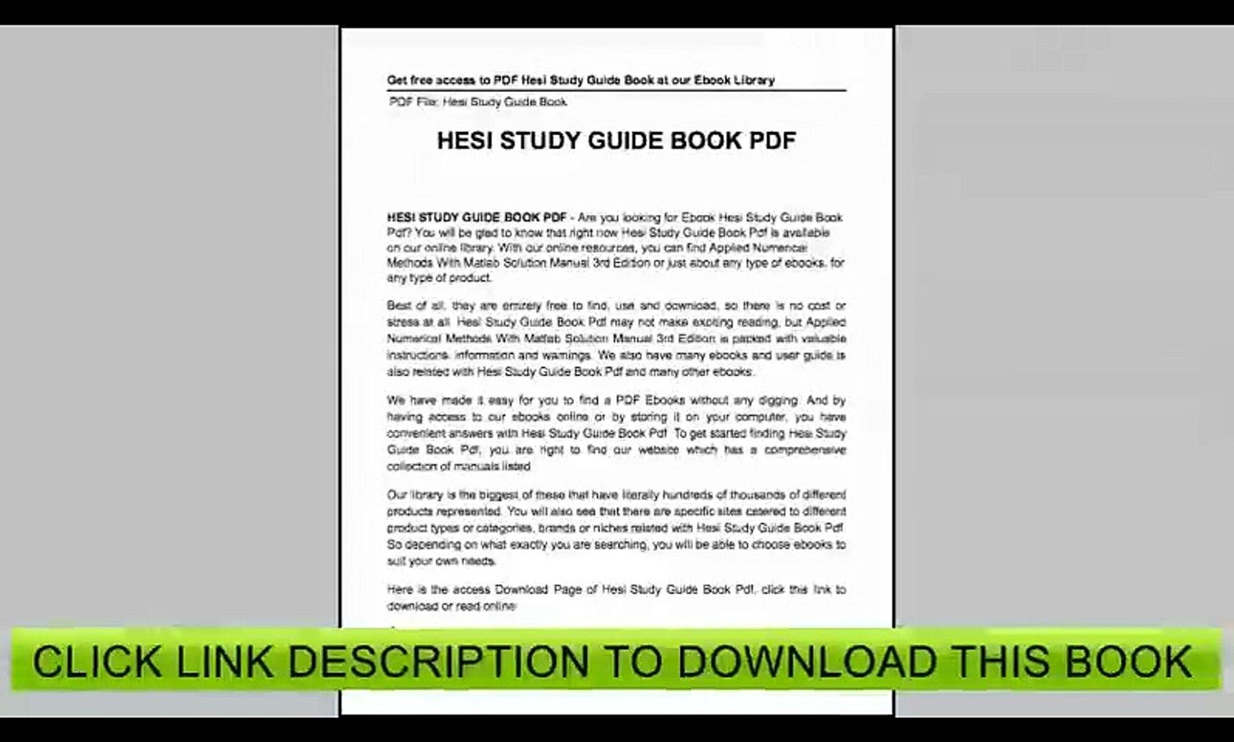 Hesi Study Guide Free - Free Printable Hesi Study Guide