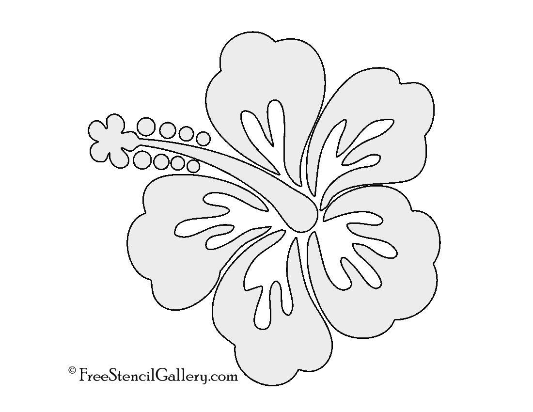 Hibiscus Flower Stencil | Free Stencil Gallery | Stencils - Free Printable Flower Stencils