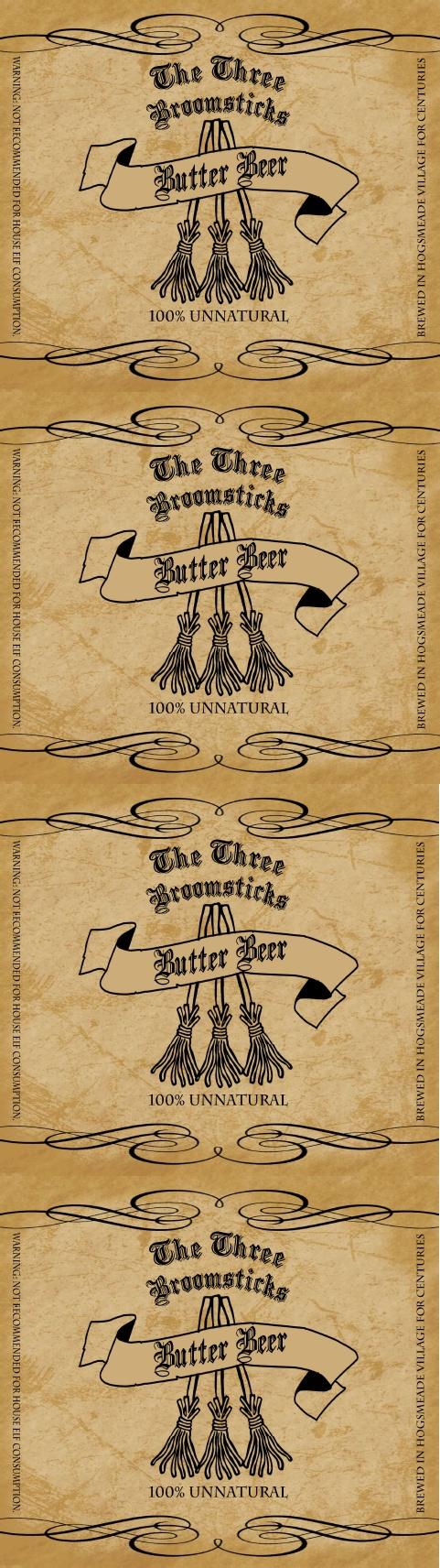 Hog Warts Express Butter Beer Label | Harry Potter - Free Printable Butterbeer Labels