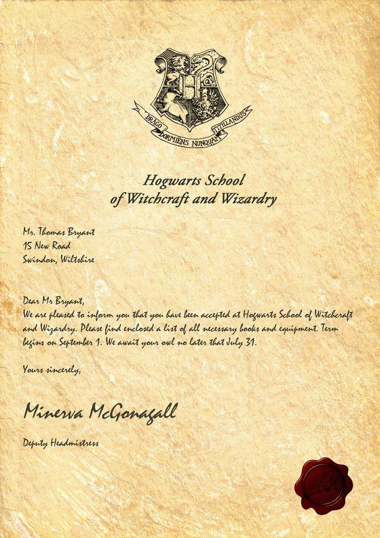 Hogwarts Acceptance Letterlegiondesign   Harry Potter Party - Hogwarts Acceptance Letter Template Free Printable