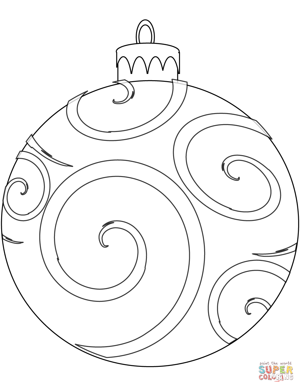 Holiday Ornament Coloring Page | Free Printable Coloring Pages - Free Printable Ornaments To Color