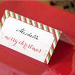 Holiday Place Card Diy Printable   Free Printable Place Card Templates Christmas