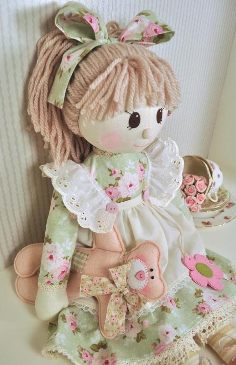 Holly Rag Doll Pattern - Pdf - Free Printable Cloth Doll Sewing Patterns