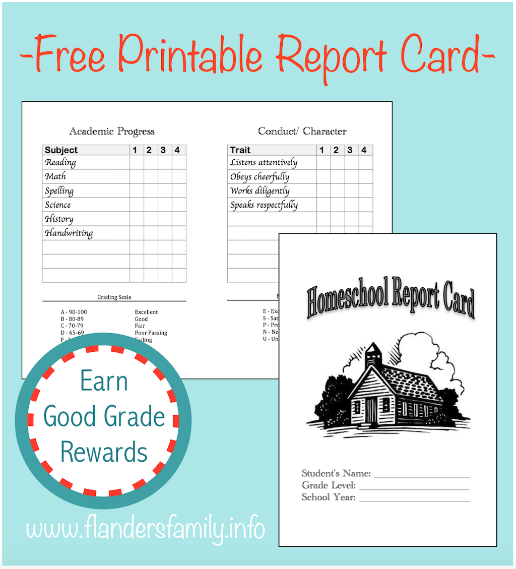 Home School Report Cards - Flanders Family Homelife - Free Printable Report Cards