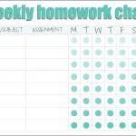 Homework (Reward) Charts   Free Printables | Live Craft Eat   Free Printable Homework
