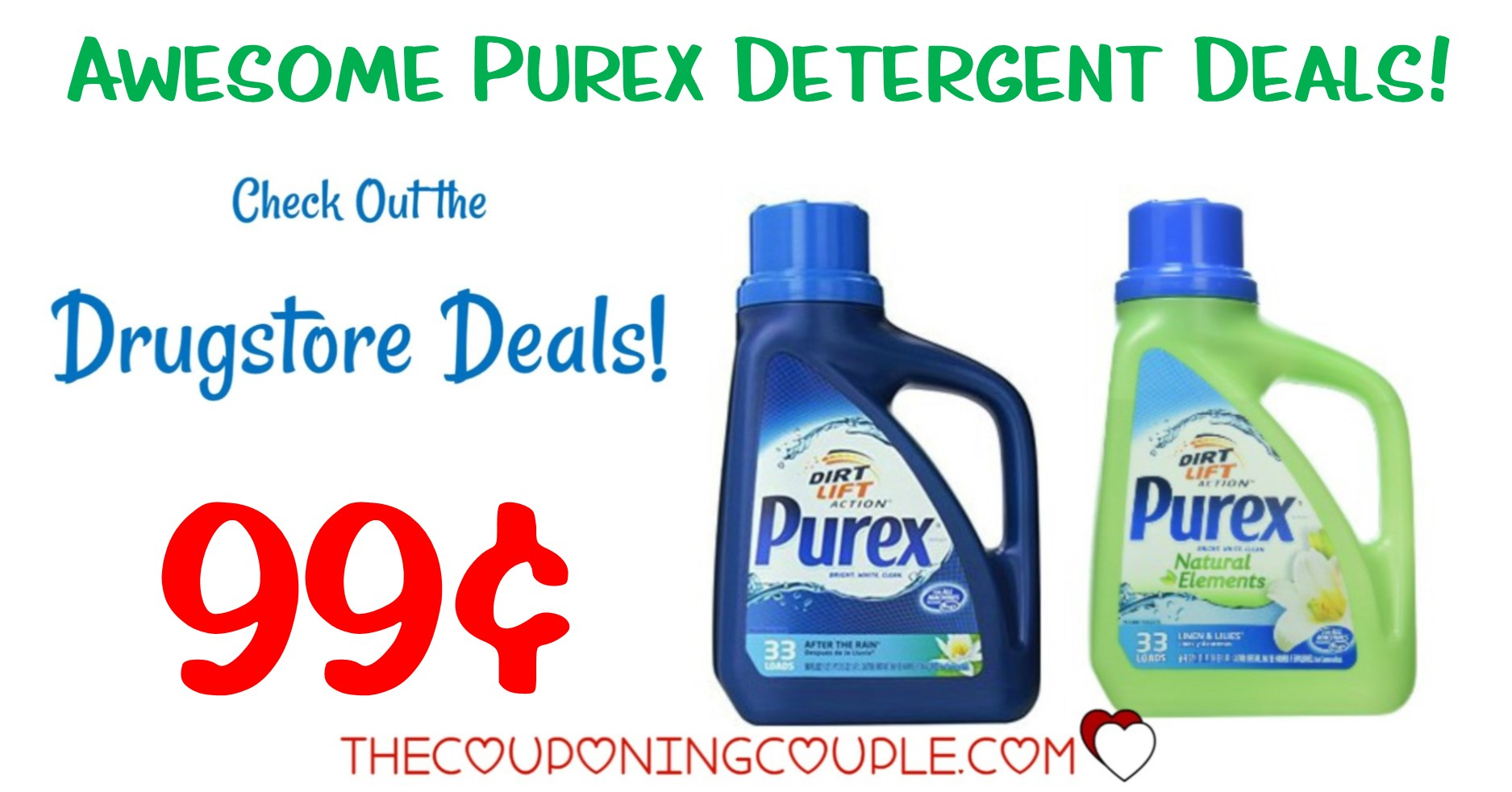 Hot** Purex Detergent Coupon + Drugstore Deals = $0.99 Each! - Free Printable Purex Detergent Coupons