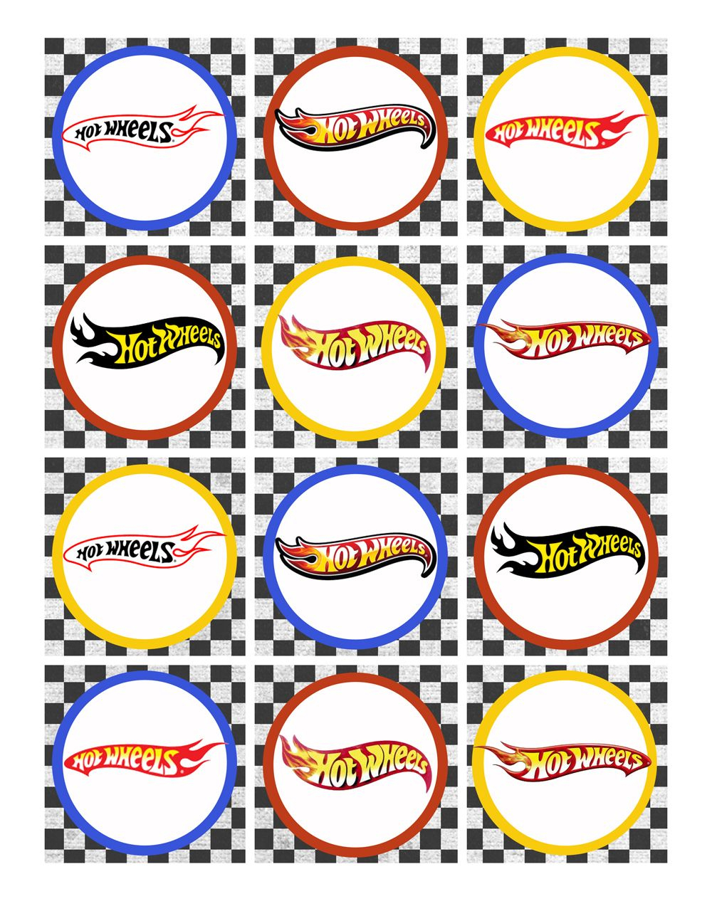 Hot Wheels Birthday Party Pack Free Printables   Party Time   Hot - Free Printable Party Circles