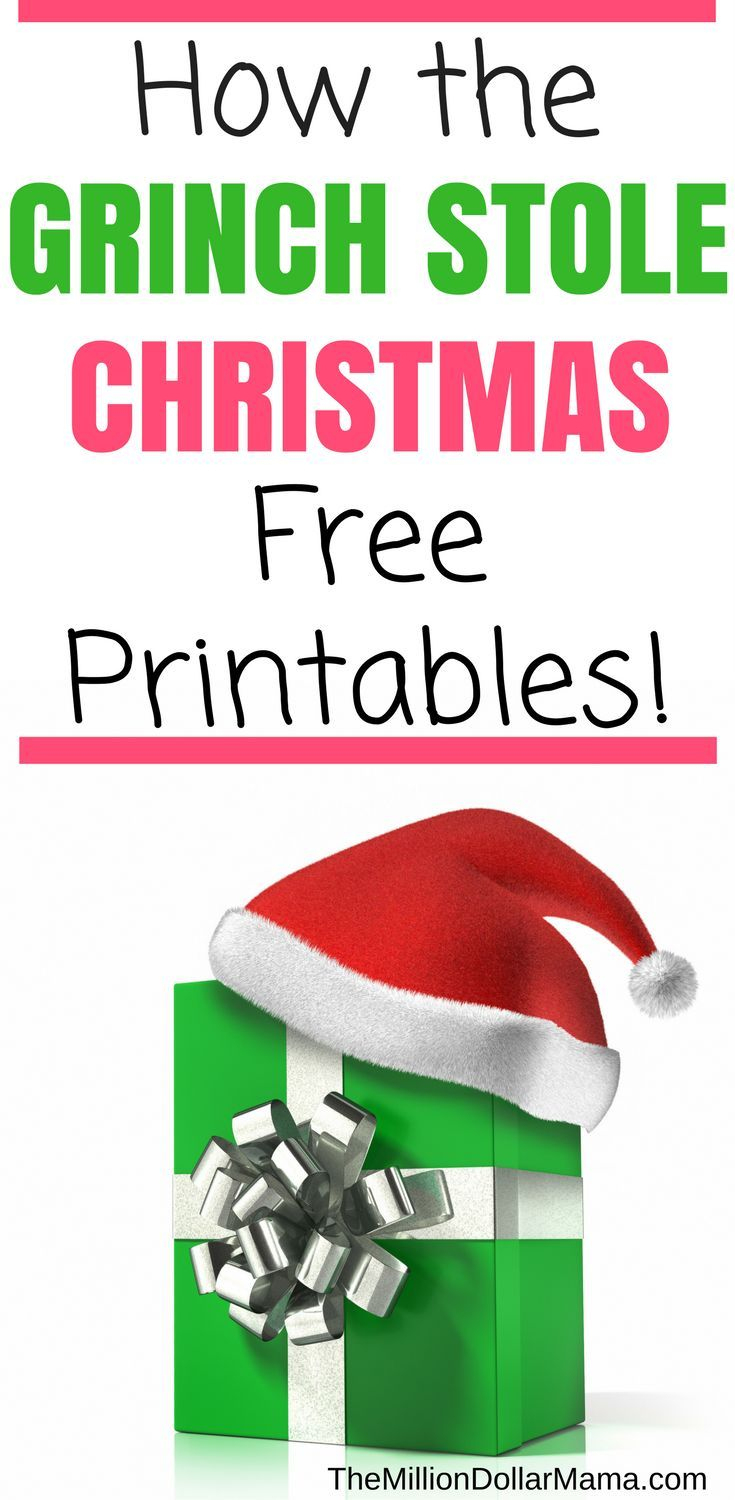How The Grinch Stole Christmas Free Printables! | Christmas - Grinch Pills Free Printable