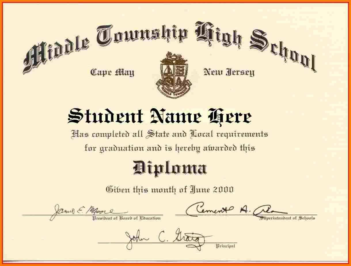 How To Get A Fake Ged Certificate For Free Original High School - Printable Fake Ged Certificate For Free