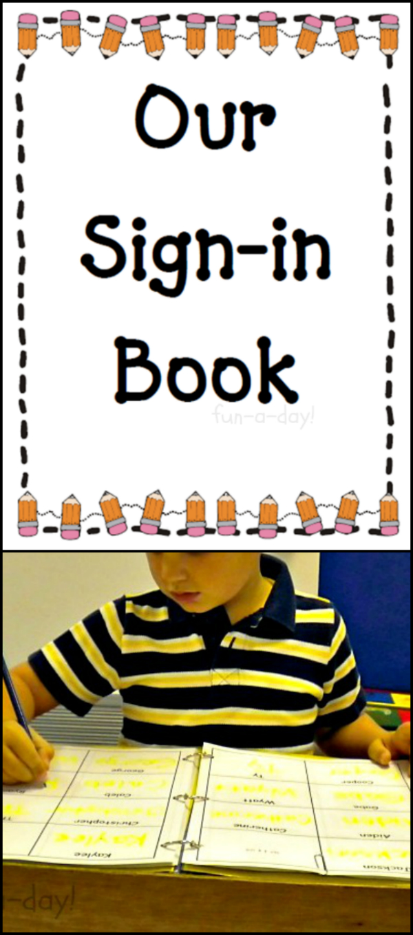 How To Make A Book With Free Printable Preschool Sign In Sheets - Free Printable Center Signs For Pre K