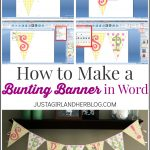 How To Make A Bunting Banner In Word {With Clip Art Tips And Tricks}   Free Printable Banner Maker