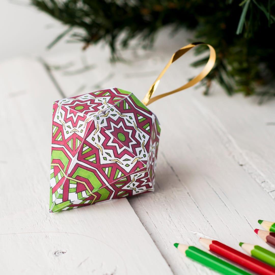How To Make A Christmas Ornament (Free Printable Template) - Free Printable Christmas Ornaments