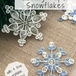 How To Make Quilling Paper Snowflakes | Paper | Pinterest | Quilling   Free Printable Quilling Patterns