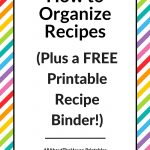 How To Organize Recipes (Plus A Free Printable Recipe Binder!)   All   Free Printable Recipe Dividers